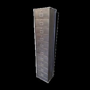 grande armoire à 10 casier grise industrielle
