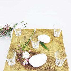 Petit verre contenant à digestif vintage