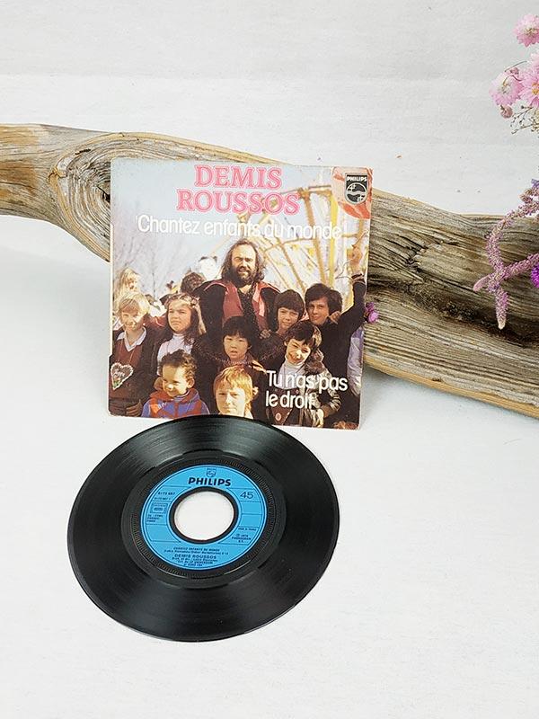 """Vinyles Démos Roussos """"Chantez enfants du monde"""""""