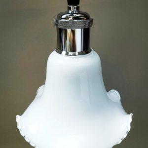 suspension opaline juponnée blanche et brillance avec la suspension couleur au choix de FabriQémoi